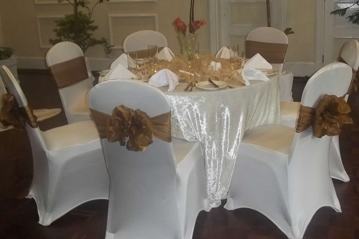 Outdoor Occasions Dressed Banquet Chairs For Hire